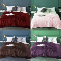 Double Deck Flannel Throw Blanket Adult Children Pure Color Thickening Keep Warm Cashmere Blankets 130cmx160cm 31 32bd J2