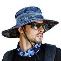 DHL Camo Açık Spor Erkekler Balıkçılık Şapka Kamuflaj Kova Balıkçı Ripstop Orman Bush Şapkalar Boonie