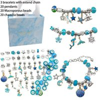 Bangle DIY Charm Cartoon Bracelet Beads Making Kit Jewelry Supplies Crystal String Craft Gifts Set For Girl Teens