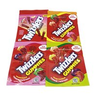 600 mg 캔디 포장 가방 Twizzlers Gummies 달콤한 과일 미니 니스 Tangy 냄새 증거 지퍼 마일러 비닐 봉투