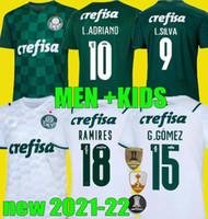 2021 2022 Palmeiras Soccer Jersey 21 22 فيليبي ميلو L.Adriano G.Gomez Breno Lopes Veron Camisa de Football Shirt Men Kids Kit
