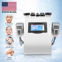 Stock en EE. UU. 40K Cavitación Ultrasónica Máquina de adelgazamiento Vacuum RF 8 PADS LIPO LÁSER LLLT LLLT LIPOLISIS 635NM 650NM Formación de cuerpo Ultherapy