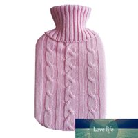 أكياس زجاجة الماء الساخن 2L أدفأ لينة محبوك غطاء القضية لفصل الشتاء الحرارة الدافئة للخلف الرقبة الخصر اليد reusable 5colors