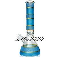 비커 봉 다운 시스템 퍼크 유리 버블 러 웨이 파이프 재활용품 DAB 조작 화려한 유리 물 봉재 애쉬 포수 Percoler cyclone 14mm 그릇