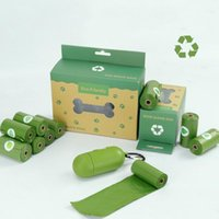Dog Travel & Outdoors Biodegradable Poop Bags Earth Friendly Cat Accessories Gift Dispenser Easily Clean Up Tool Thickening Pet Garbage Bag