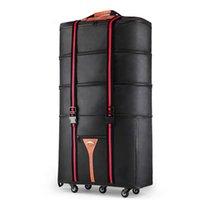 """Koffer Hohe Qualität Faltende Reisetasche mit Rädern Oxford Wasserdicht groß im Ausland Bewegung Walzgepäckluftträger 32 """"36"""" Zoll"""