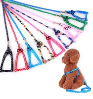 Newest 1.0*120cm Dog Harness Leashes Nylon Printed Adjustable Pet Collar Puppy Cat Animals Accessories