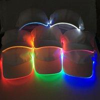 Papas de bola Moda Unisex Color Sólido LED LED Luminoso Sombrero Béisbol Fiesta de Navidad Casquillo