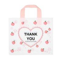 Grazie Borse per Business 50Pack Love Heart Plastic Plastic Shopping Bags Shopping con manico a loop morbido Grazie