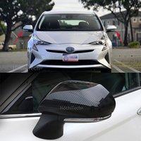 Toyota Prius 50 시리즈 2016 - 2019 수정 된 백미러 커버 밝은 스트립 탄소 섬유 패턴 장식 액세서리