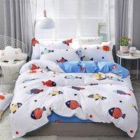 Bedding Sets Cartoon Animal Marble Geometric Design Bedroom Home Textile Girl Boy Child Bedclothes Pillowcase Sheet 4
