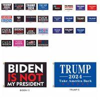Новые 30 стилей 2024 Флаг Трампа Байден не является моим президентом 90 * 150см США Президентский флаг Трампа Флаги баннеры Море Доставка T9i001157