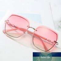 Sunglasses Women Cat Eye Rimless UV400 Brand Designer High Quality Gradient Sun Glasses Female Oculos