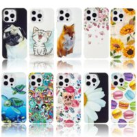 Glow In Dark Skull Soft TPU Cases For Ipod Touch 7 5 Iphone 13 Pro Max 12 11 XR X XS 8 6 Flower Turtle Cat Dog Doughnuts Sunflower Luminous Cute Mobile Phone Back Skin Cover
