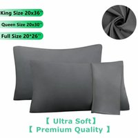 1 pieza / lote Caja de almohada de calidad premium 100% cepillada Microfibra Sobre Cierre Pillowcasas Estándar Rey King Size Home Almohada Cubierta