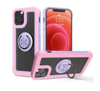 Phone case crystal hybrid Armor Case with magnetic metal ring holder for iPhone 13 12 Pro 7 8 plus xr shockproof back cover