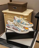 40% de descuento Nueva Llegada Venta caliente Italia Hombres Mujeres Sneaker Zapatos Casuales Calidad Snake Chaussures Cuero Sneakers Ace Bee Bordado