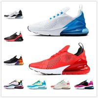 2021  AIR MAX 270 REACT shoes جديد وسادة رياضية رياضية رجالي الاحذية cny rainbow كعب مدرب الطريق نجمة البلاتين اليشم bred المرأة 27C أحذية رياضية الحجم 36-45