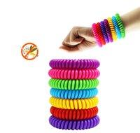 Frakt Naturligt Säker Myggmedel Repellent Armband Vattentät Spiral Armband Band Utomhus Inomhus Insect Protection Baby Pest 3035 V2
