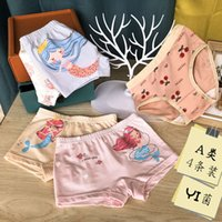 Children's and girls' underwear Pure Cotton Boxer primary secondary school children's bacterial triangle without clip PP baby