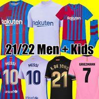 tops Camisetas de football MESSI Kun Aguero Barcelona soccer jersey BARCA FC 20 21 22 ANSU FATI 2021 2022 GRIEZMANN F.DE JONG DEST PEDRI kit shirt men kids sets socks