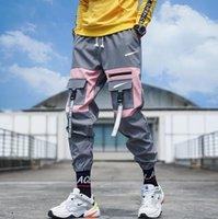 2021 New Streetwear Mulheres Multi Bolsos Carga Harem Calças Hip Hop Casual Calças Masculinas Calças Jogos Calças Moda Harajuku Homens Calças ZXC996