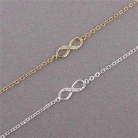 Bangle Bracelet Kinitial Number 8 Chain Cz Infinity for Women Men Friendship Bracelets Bohemian Charm Jewelry