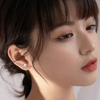 Stud VENTFILLE 925 Sterling Silver Micro-Inlaid Zircon Earrings Fashion Sweet Pearl Butterfly Flower Small Exquisite Gift