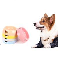 Чаши Cat Dog Feiters Bowl Plastic Love Pet Food Water Bowl Antiskid Pet Saceator Dog Cat Catching Bower герметичный красочный OWD9697