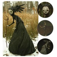 Decorative Objects & Figurines Fairy Witch With Crutch Figurine Outdoor Statue Garden Sculpture For Patio Lawn Yard Porch Halloween Decorati