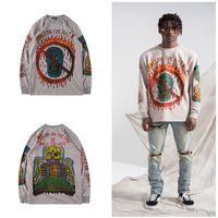 Kanye West Long Sleeve SEASON Six T Shirts Men Street Rap Loose Cotton Hip Hop T Shirt Bone Letter Print Unisex SEASON 6 Tee