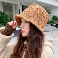 Japanisches College Wind Gestrickte Hut Weiches Mädchen Herbst und Winter Koreanische Version Vielseitige Lotusblatt Waschbecken Twist Wolle