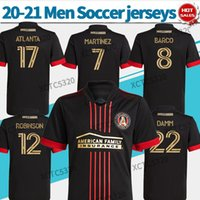 MLS 2021 Atlanta United FC Soccer Jerseys Black # 7 Martinez # 17 Atlanta 20/21 Blvck Kit Camicie da calcio Personalizzato Uniformi di calcio