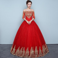 2021 New Arrived Real Photo Red Ball Gown Glitter Lace Quinceanera Dresses Vintage Lace Applique Ball Gown For 15 Years Pageant Gown