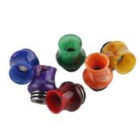 810 Thread Resina Drip Tips Universale Grande zucca Acciaio inossidabile per TFV12 Prince TFV8 Big Baby Serbatoi Atomizzatori Mix Colori HWD8628