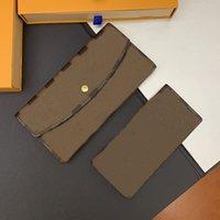 Кошелек унисекс дизайнер длинные кошельки кошелек 2 в 1 классический держатель карты с оранжевой подарочной коробкой