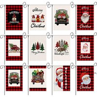 Christmas Garden Flags Double Sided Decorative Santa Claus Snowman Indoor Outdoor Yard Banner Home Decoration CCB10632