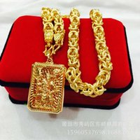 necklace necklace Brass gold plated Guan Gong necklace, male domineering, style, long lasting, thick chain