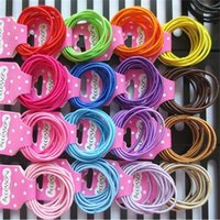 10 unids / set Bandas de goma para el cabello Niños Girls Bandas de pelo Anillo Círculo Círculo Hairbands Baby Headbands Banda Joyería Accesorios H26ENAH