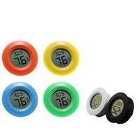 Nuovo termometro elettronico circolare incorporato e igrometro mini design wireless LED