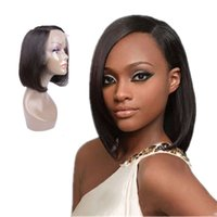 Bt Selling Cheap Short Styled Pre Plucked HD Swiss Gluels Side Part Lace Front Human Hair Bob Wigs for Black Women