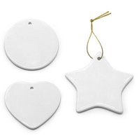 Double Sides Sublimation Blank Ceramic Pendant Creative Chri...