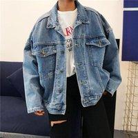 Women's Jackets Women Denim Jacket Boyfriend Style Jeans Coat Retro Oversize Cowboy Loose Casual Outwear Veste En Jean #2B19