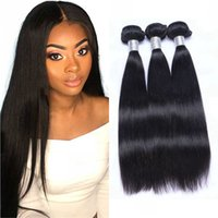 Brazilian Human Hair 3 4pcs Straight Bundles Natural Black Non Remy Hairs Weave Extensions for Women
