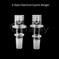 Round Beracky Beveled 20mm 24mm Edge Diamond Knot Bottom Quartz Enail 10mm 14mm 18mm Male Female E Nail Banger
