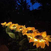 Solar Lamps Sunflower Garden Light Outdoor Lawn Lamp Led Landscape Fairy Lights Guirnalda Luces Exterior #T2G