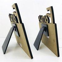 Woodiness Sublimation Blank Blank Frames MDF fai da te tridimensionale svuotando vuoto ardesia lettera forma laser taglio home accessorio OWD5348