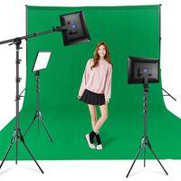 Cabeças flash Dimbable Bicolor LED Vídeo Painel de Luz de Vídeo UE Pogador de Pogador de Iluminação Barragem Braço com Tripé para PO Studio 3200K-6000K Encher Lamp