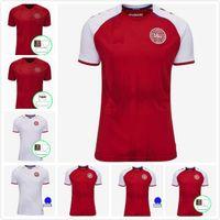 2021 2022 Dinamarca Soccer Jersey 21 22 Dinamarca Camisetas Eriksen Hojbjerg Yussuf Christensen Inicio Alojamiento Top Top Thai National Football Camisa Portero Maillot de Pie
