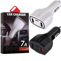 QC 3.0 PD Car Charger Type C 35W 7A Fast Chargers Dual USB Quick Charging Plug 3 Ports Adapter with Retail Package